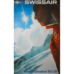 Swissair, World's Greatest Ski Lift. Hubert Graf. 1970.
