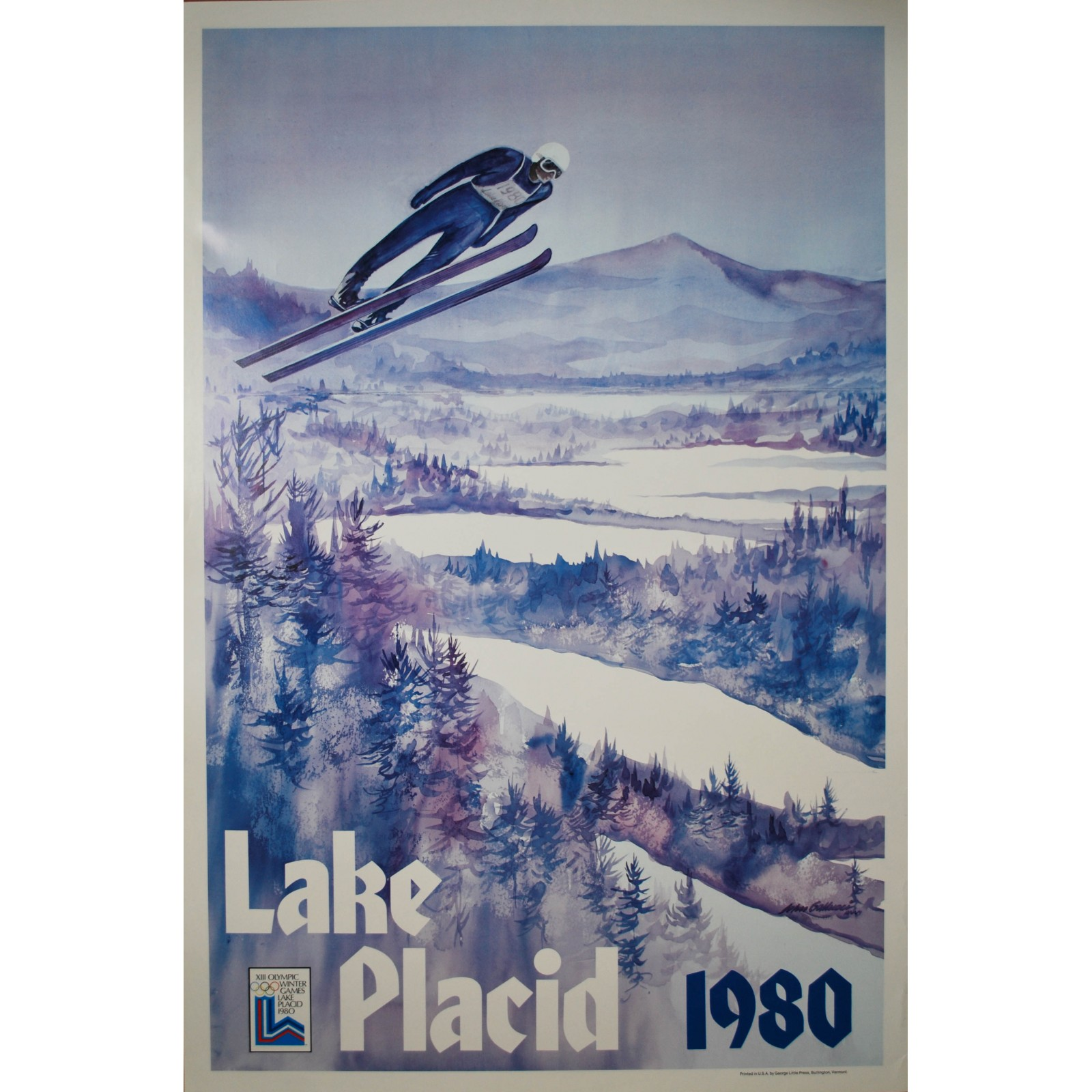 Olympic Winter Games Lake Placid Whitney 1980 Posters We Love