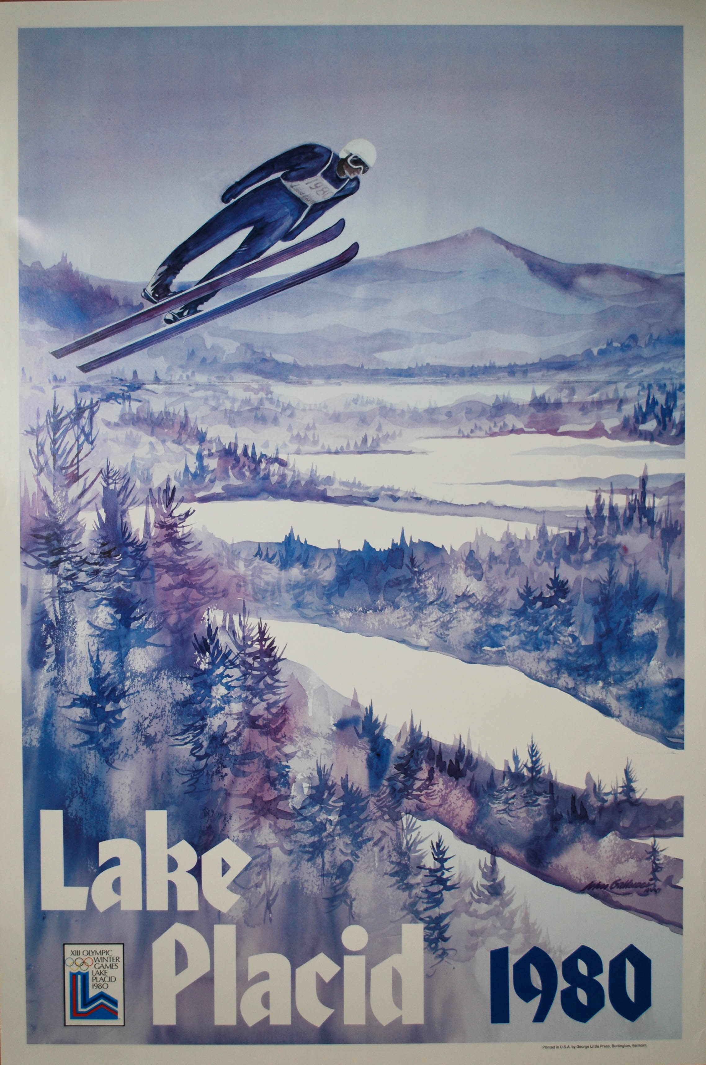 Olympic Winter Games, Lake Placid. Whitney. 1980. - Posters We Love
