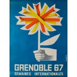 Grenoble, Semaines Internationales. Roger David. 1967.