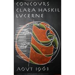 Concours Clara Haskil Lucerne. Hans Erni. 1963.