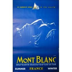 Mont Blanc Chamonix. Yves Laty. 1980.
