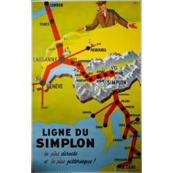 La ligne du Simplon. Walther Spinner. 1953.