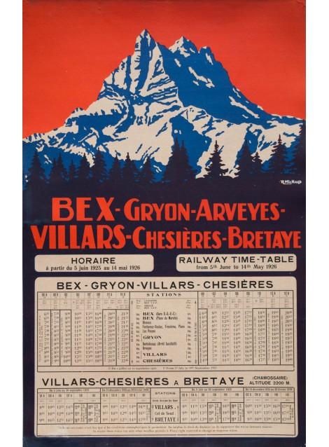 Bex Villars Bretaye. René Michaud. 1926.