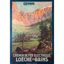 Chemin de fer électrique Loèche les Bains. 1910.