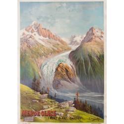 Mer de Glace, Mont Blanc, Chamonix. Frédéric Hugo d'Alési. 1895.