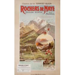 Rochers de Naye. Anton Reckziegel. 1904.