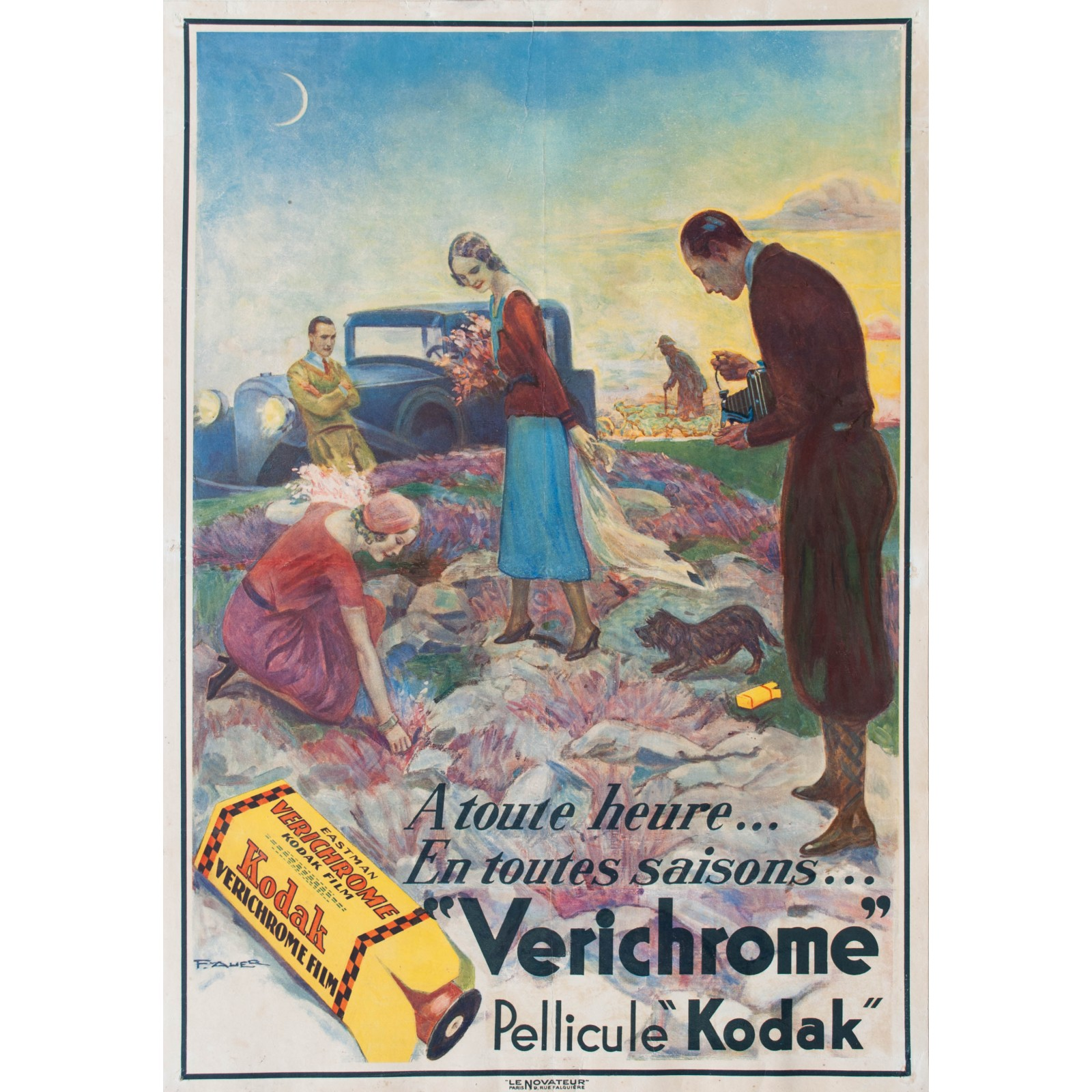 Verichrome Pellicule Kodak  F  Auer  1935  - Posters We Love