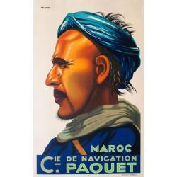 Maroc, Compagnie de navigation Paquet. Viano. 1930.
