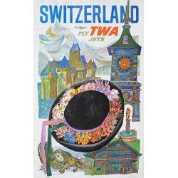 Switzerland TWA. David Klein. 1960.