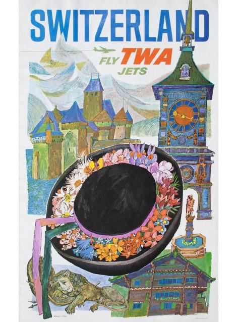Switzerland TWA. David Klein. 1960.