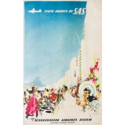 South America by SAS, Rio de Janeirio. Otto Nielsen. 1960.