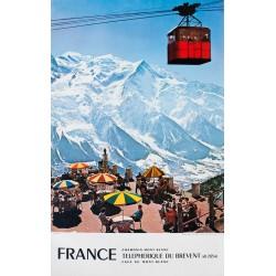 Chamonix Mont-Blanc, Téléphérique du Brévent. 1972.