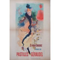 Pastilles Géraudel. Jules Chéret. 1891.