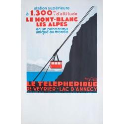 Téléphérique de Veyrier - Lac d'Annecy. Henry Reb. 1934.