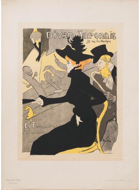Divan japonais henri de toulouse lautrec 1895 posters for Divan japonais toulouse lautrec