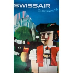 Swissair, Switzerland. Niklaus SCHWABE. 1961.