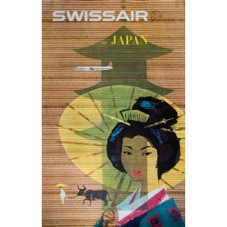 Swissair, Japan. Donald BRUN. 1958.