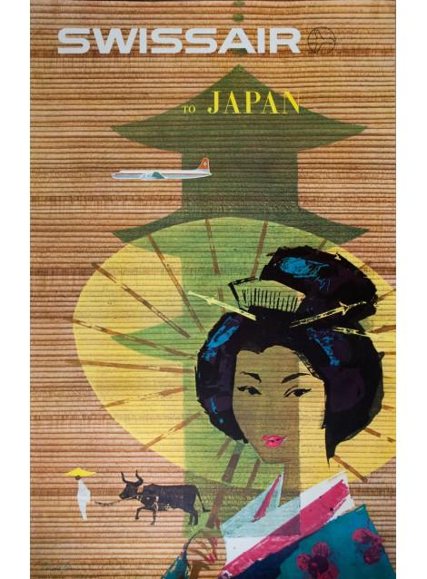 Swissair, Japan. Donald BRUN. 1958.