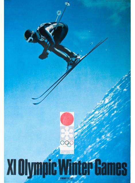 XI Olympic Winter Games Sapporo, Ski. Yusaku KAMEKURA. 1972.