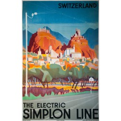 The Electric Simplon Line. Otto BAUMBERGER. 1929.