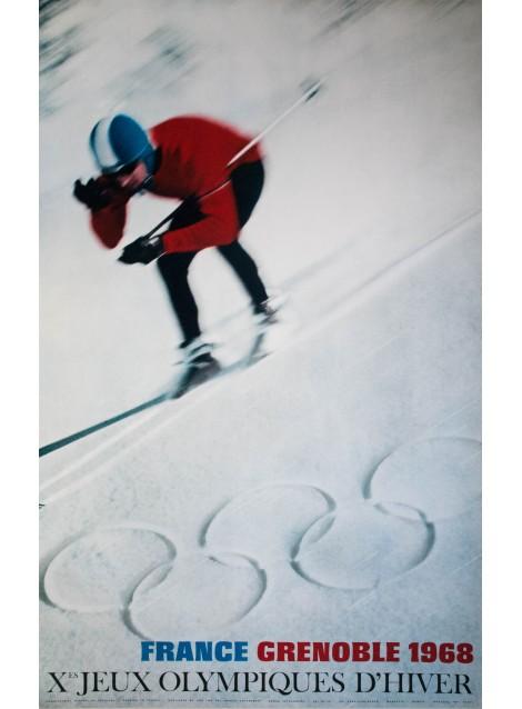 Jeux Olympiques Grenoble. J. Dubois. 1968