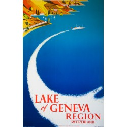 Lake of Geneva. Alex Guhl. 1952.