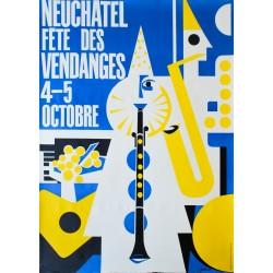 Fête des Vendanges, Neuchâtel. Pierre Favre. 1958.