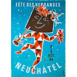 Fête des Vendanges, Neuchâtel. Claude Humbert. 1954.