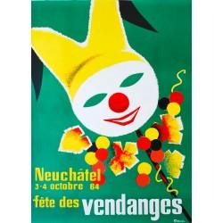 Fête des Vendanges, Neuchâtel. Louis Tinturier. 1964.