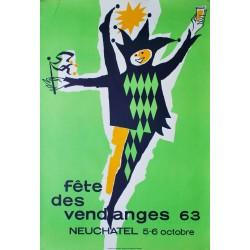 Fête des Vendanges, Neuchâtel. Daniel de Coulon. 1963.