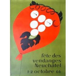 Fête des Vendanges, Neuchâtel. Walter Wehinger. 1966