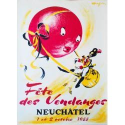 Fête des Vendanges, Neuchâtel. Walter Hugentobler. 1955.