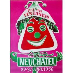 Fête des Vendanges, Neuchâtel. Walter Wehinger. 1956.