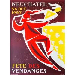 Fête des Vendanges, Neuchâtel. Alex Billeter. 1957.