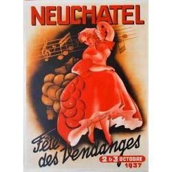 Fête des Vendanges, Neuchâtel. Ferdinand Maire. 1937.