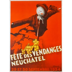 Fête des Vendanges, Neuchâtel. Jean-Pierre Schüpbach. 1934.