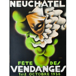 Fête des Vendanges, Neuchâtel. Jean-Pierre Châtelain. 1938.