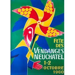 Fête des Vendanges, Neuchâtel. Walter Wehinger. 1960.