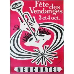 Fête des Vendanges, Neuchâtel. André Huguenin. 1953.