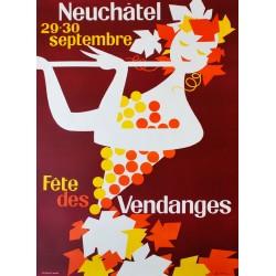 Fête des Vendanges, Neuchâtel. Alex Billeter. 1962.