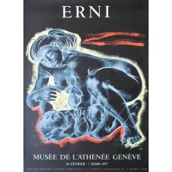 Exposition Musée de l'Athénée. Hans Erni. 1957.