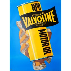 Valvoline. Affiche anonyme. 1953.