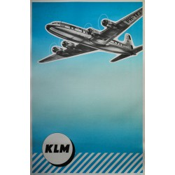 Affiche anonyme. KLM. Vers 1950.