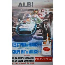 Michel Beligond. Grand Prix de France, Albi. 1966.