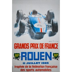 Michel Beligond. Grands Prix de France, Rouen. 1965.