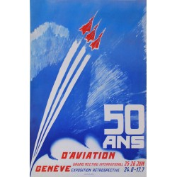 50 ans d'aviation, grand meeting, Genève. 1955.