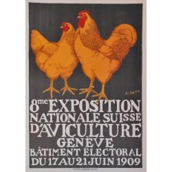 Henry-Claudius Forestier. Exposition d'aviculture, Genève. 1909.