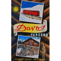 Robert Cappa et Werner Cohnitz (photogr.). Davos Parsenn. Vers 1952.