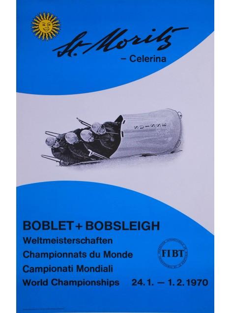 Bobsleigh, Weltmeisterschaften, St. Moritz. 1970.